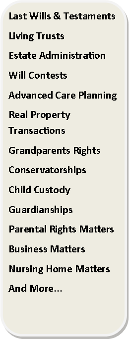 Rounded Rectangle: Last Wills & Testaments